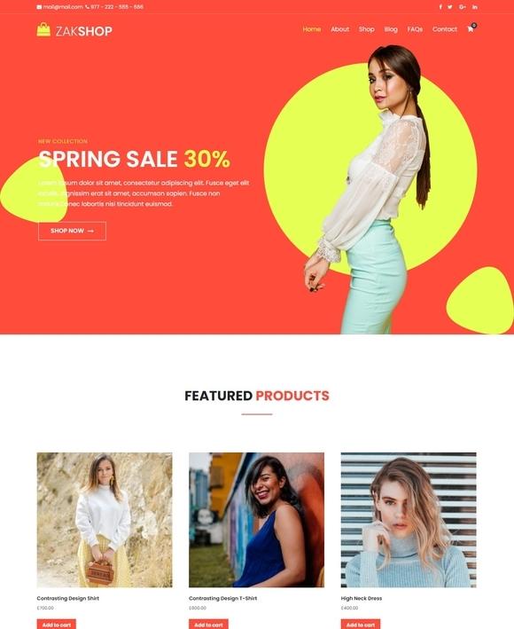 Zakra Shop Free WooCommerce Theme