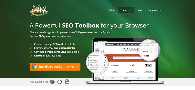 seo tools seoquake