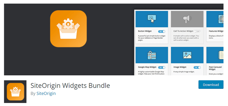 SiteOrigin-Widgets-Bundle custom sidebar plugins