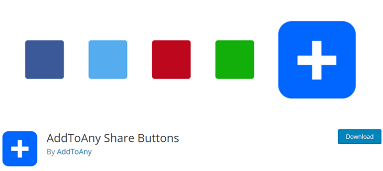 AddToAny Shared Buttons