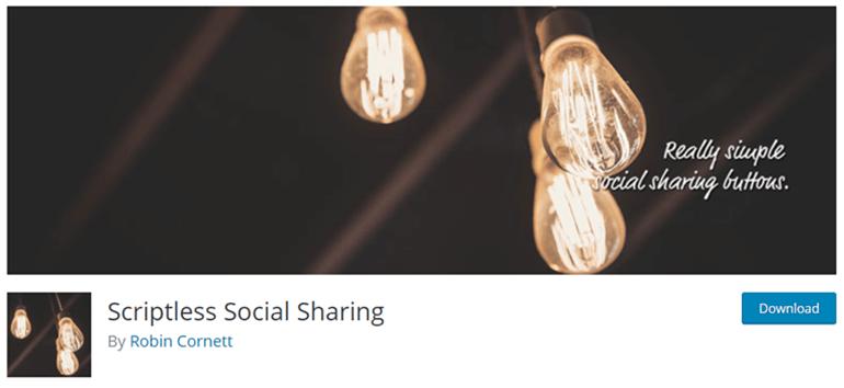 Scriptless Social Sharing