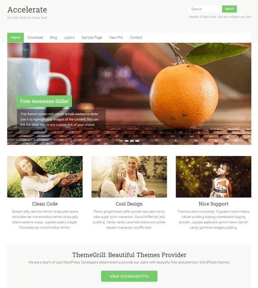 Accelerate-theme the most flexible theme