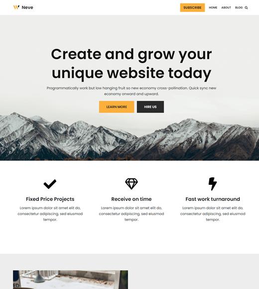 Neve-WordPress-multipurpose-theme