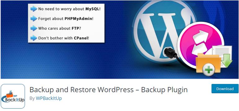 BackItUp Backup Restore Plugin