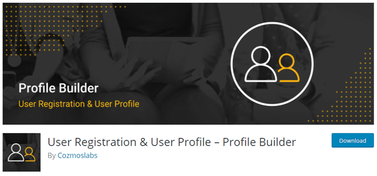 Profile Builder one of the best free WordPress Plugins for User Registration and Login