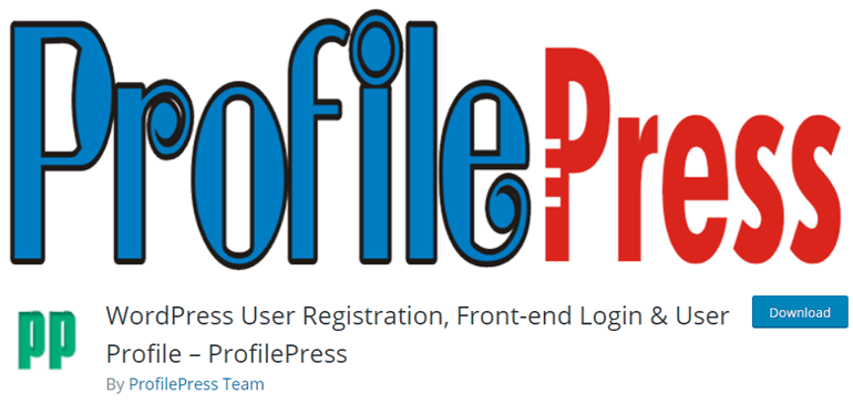 Profile Press the best free WordPress plugins for user registration and login