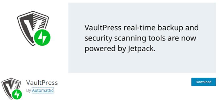 VaultPress WordPress Backup Restore Plugin