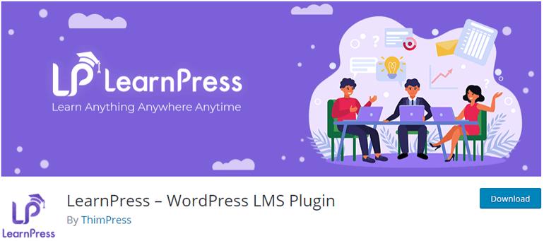 LearnPress free LMS WordPress Plugins