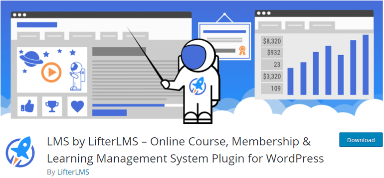 LMS by LifterLMS WordPress Online Course Plugin Free