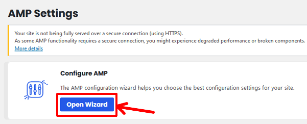 open-wizard-for-amp-settings