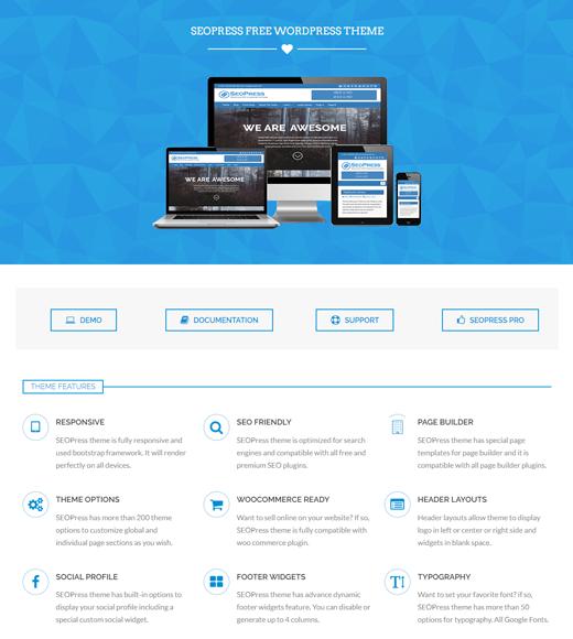 SEOPress free job portal theme for WordPress