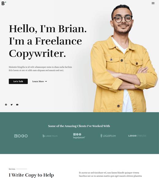 Astra best free WordPress freelancer theme