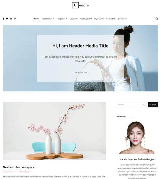 Cenote WordPress Theme
