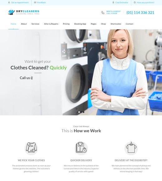 Dry Cleaning WordPress Theme