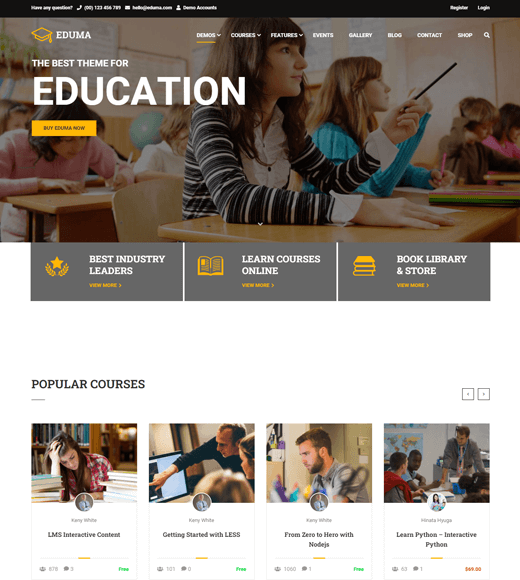 Education WP Theme for Online Course