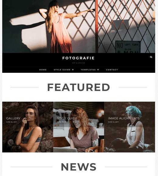 Fotografie free WordPress themes for freelancers