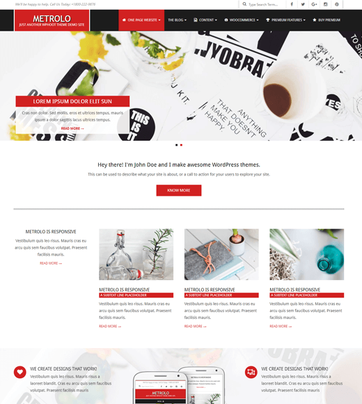 Metrolo WordPress theme