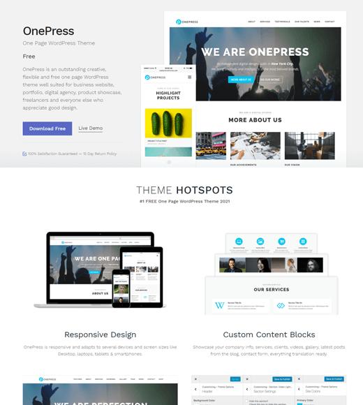 OnePress Theme