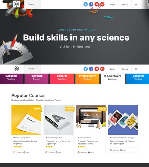 Skilled Best LMS WordPress Themes