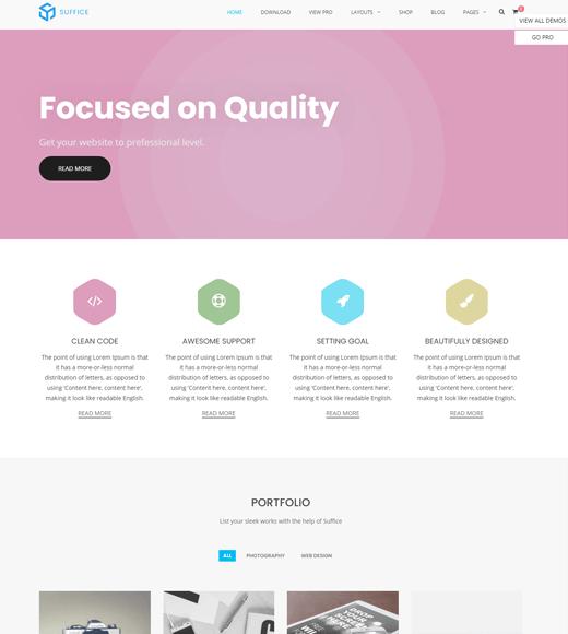 Suffice WordPress theme