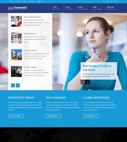 University eLearning WordPress Themes