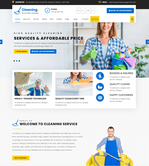 VW Cleaning Company Office Cleaning Website