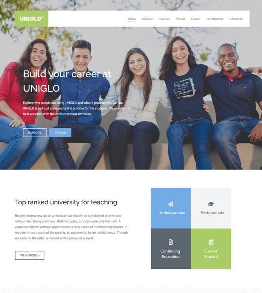 Zakra Education Online Course WordPress Theme
