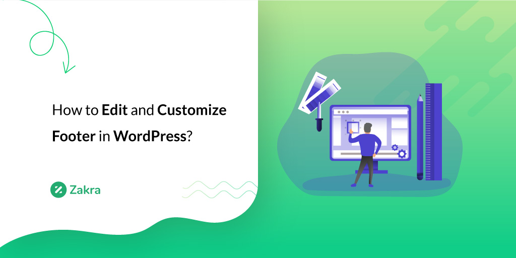 how to edit and customize footer in wordpress