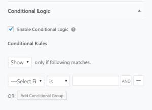 Conditional Logic WPEverest
