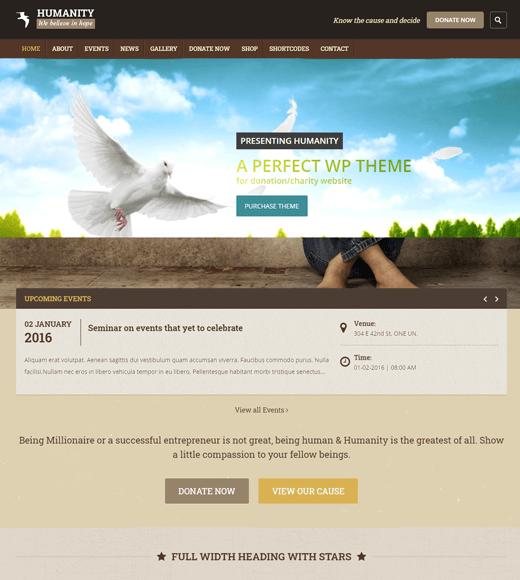 Humanity WordPress theme for