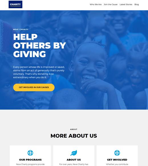 Neve Charity WordPress Theme