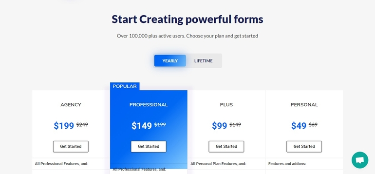 Pricing Page WPEverest