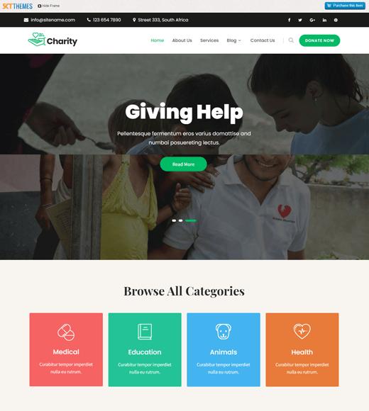 SKT Charity Non-Profit & Charity WordPress Themes