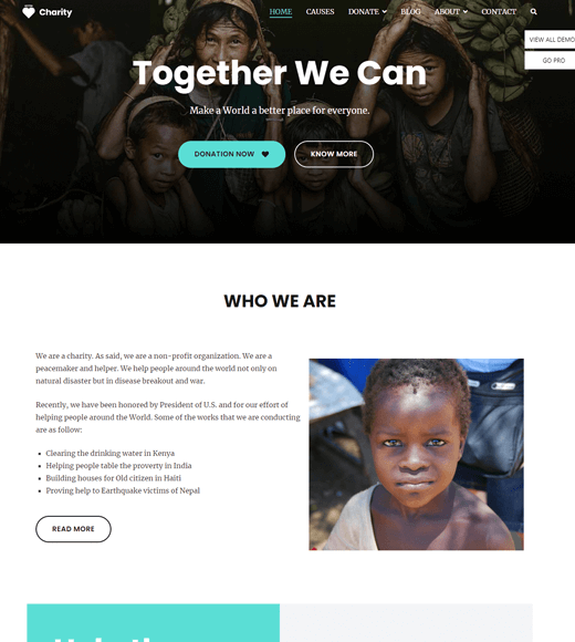 Zakra Non-Profit & Charity WordPress Themes
