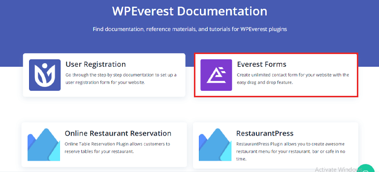 Everest Form Documentation Page