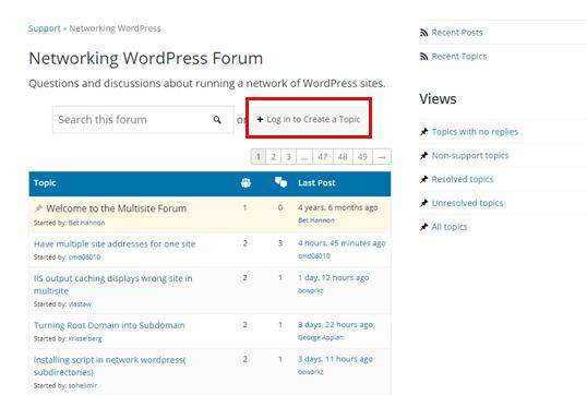 Networking WordPress Forum