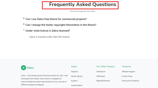 Zakra FAQs