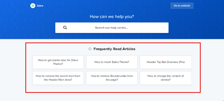 Zakra Frequently Asked Articles