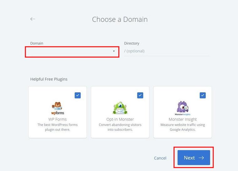 choose-domain-bluehost