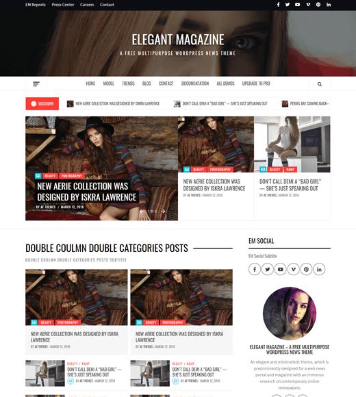 Elegant Magazine Theme for WordPress