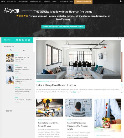 Hueman Free WordPress Magazine Themes