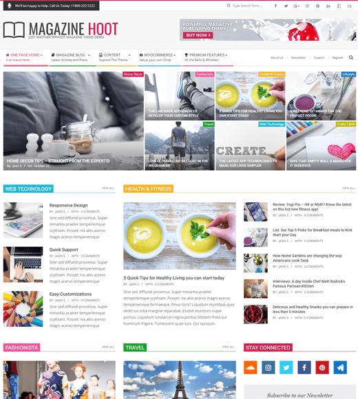Magazine Hoot Free WordPress News Magazine Theme