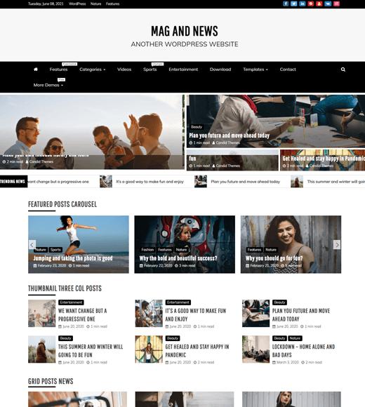 Refined Magazine Free WordPress Magazine Themes with Slider