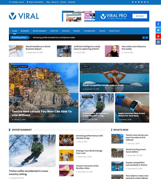 Viral Free WordPress Magazine Themes