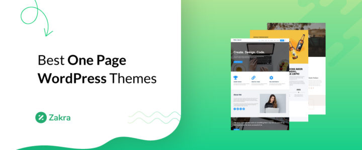 20 Best One-Page WordPress Themes & Templates for 2021
