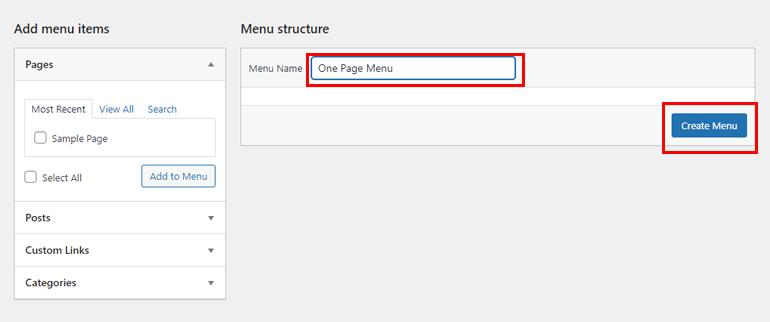 Create Menu