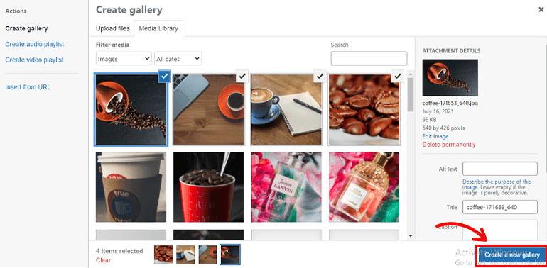 Create New Gallery