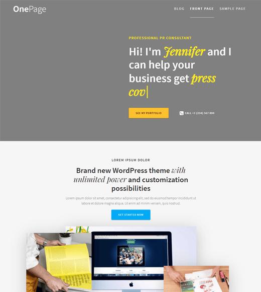 OnePage Express WordPress Theme