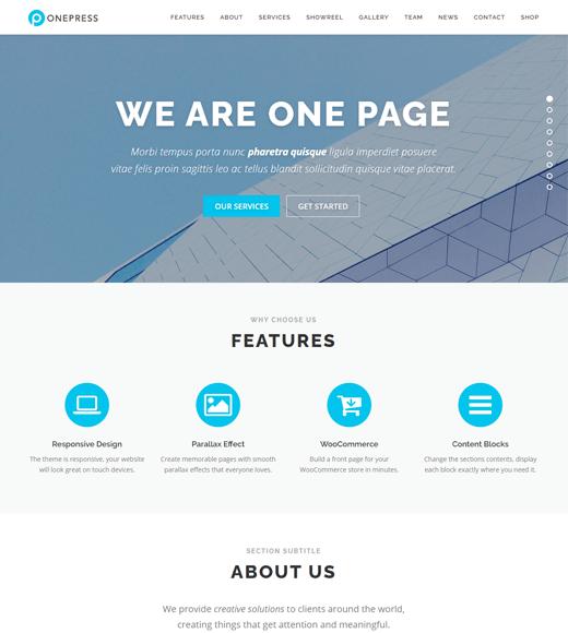 OnePress Best One-Page WordPress Theme
