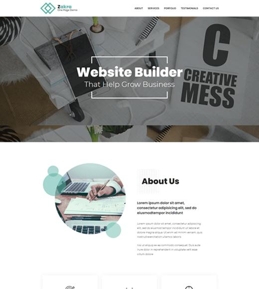 Zakra Best One-Page WordPress Themes